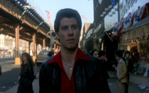 Saturday-Night-Fever_John-Travolta_red-shirt-leather-jacket-top