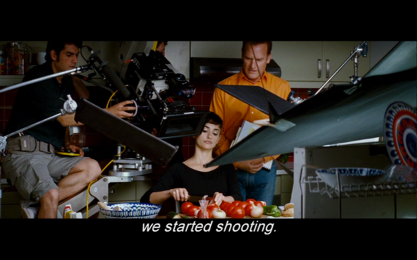 Pe as Pepa making her gazpacho but in the film within 'Broken Embraces'