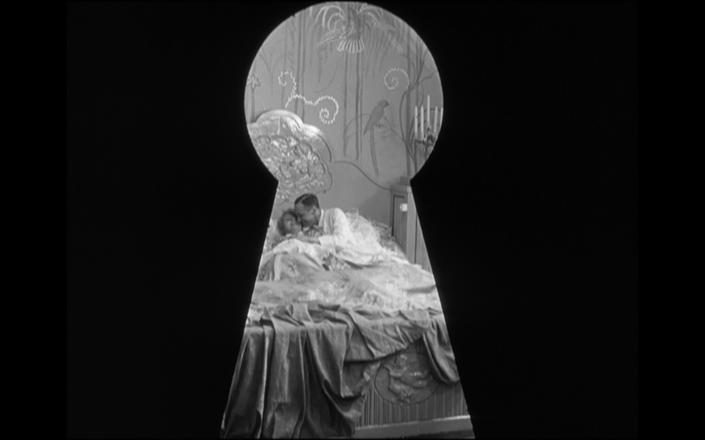 Ossie and Prince Nucki through a keyhole