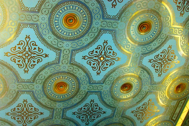 The ceiling of the Cine Doré