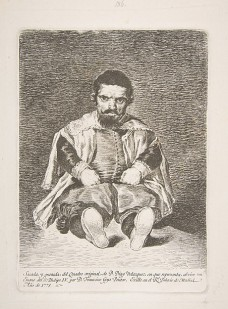 goya's etching of Velazquez