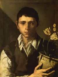 jose de ribera boy with flowerpot